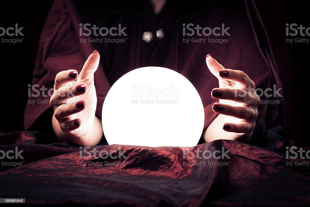 fortune teller's hands stock photo