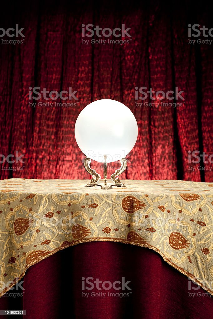 Fortune Teller's Mystical Crystal Ball. royalty-free stock photo