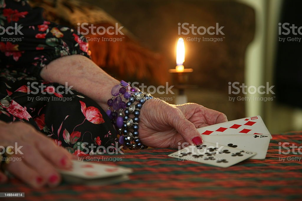 Fortune Tellers With Cards stock photo