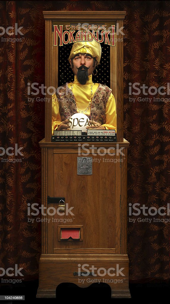 Fortune Telling Machine stock photo