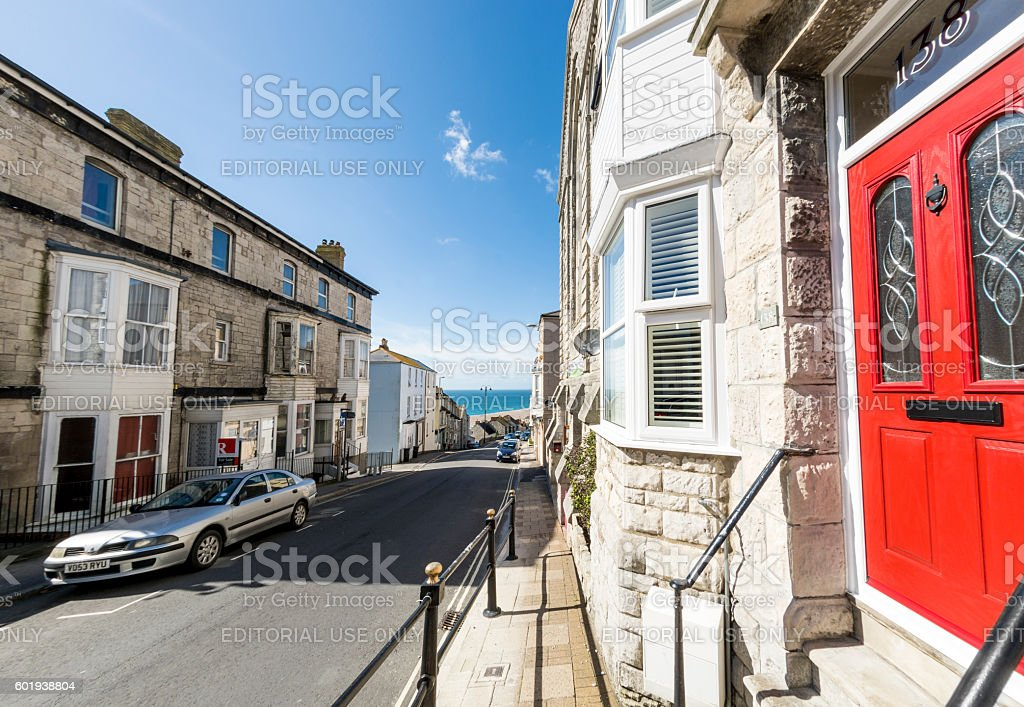 Fortuneswell on the Isle of Portland, Dorset stock photo