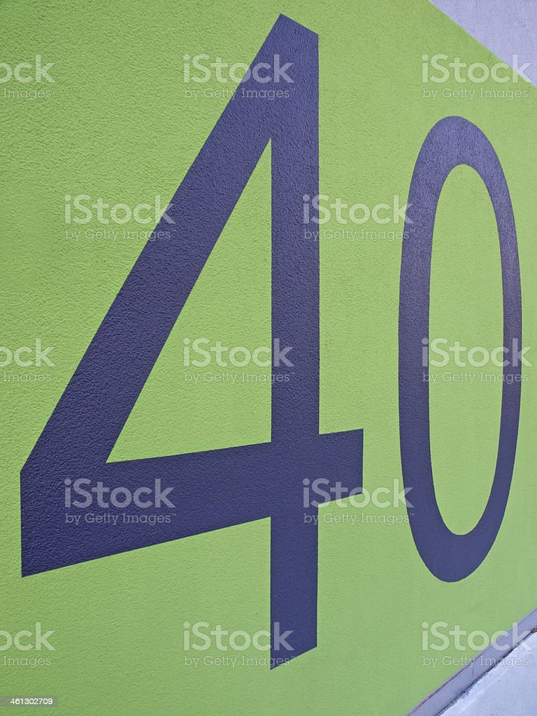 Forty / 40 stock photo