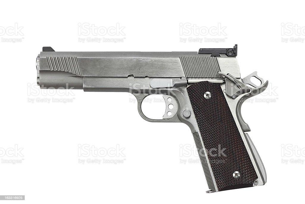 Forty Five Caliber Handgun stock photo