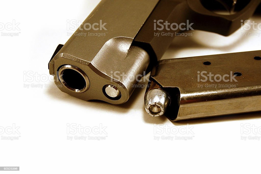 forty five muzzle stock photo
