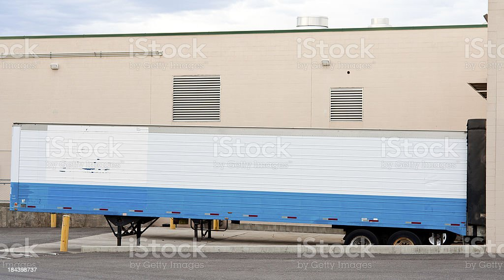 forty foot trailer stock photo
