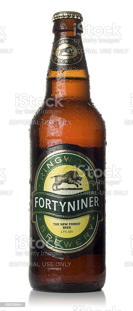 Forty Niner Beer stock photo