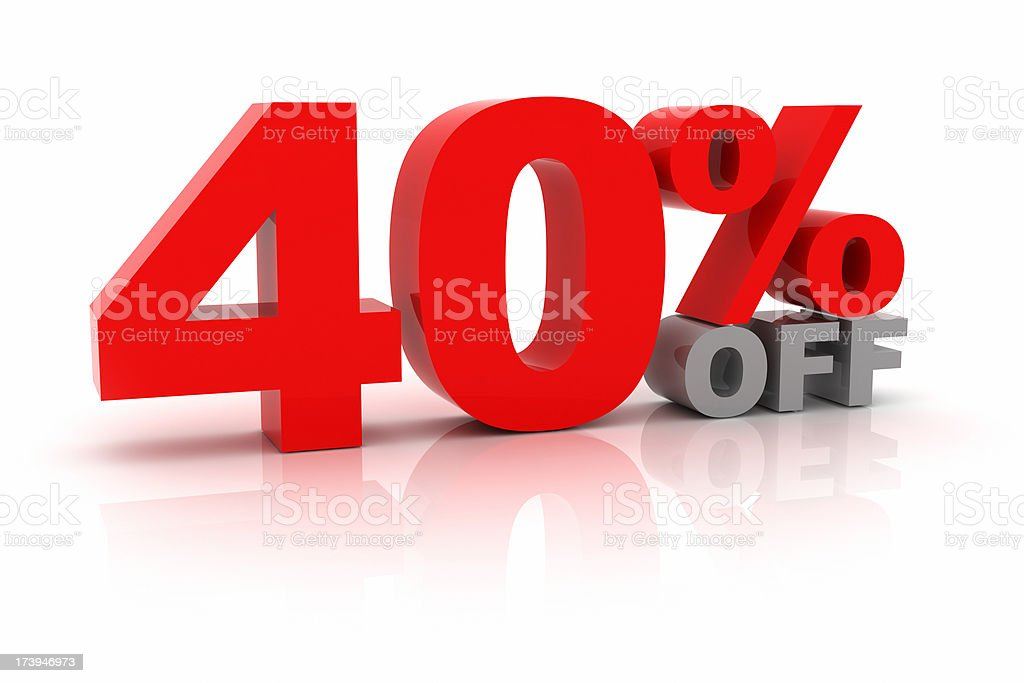 Forty Percent Off royalty-free stock photo