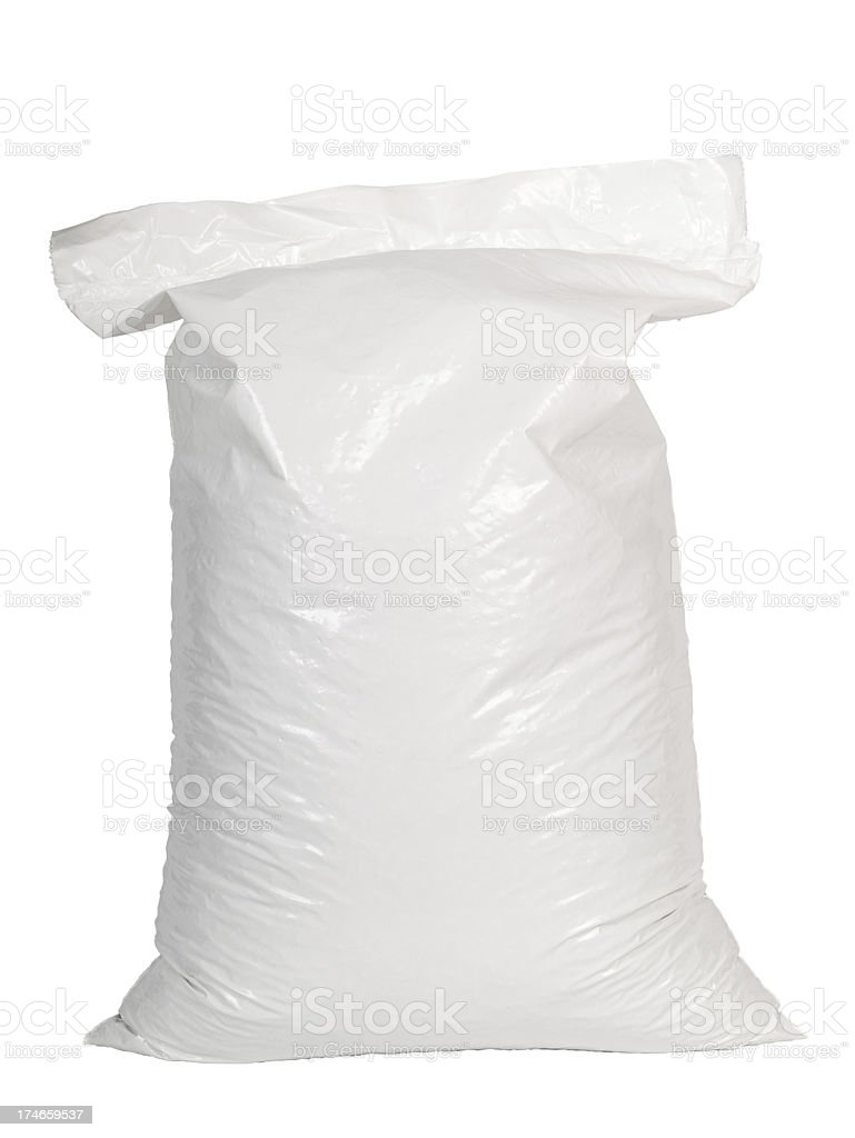 Forty pound bag of wood pellets stock photo