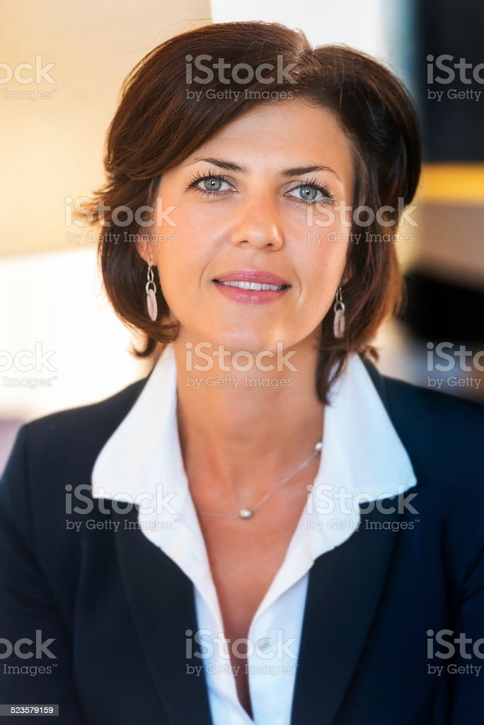 Forty something business woman stock photo