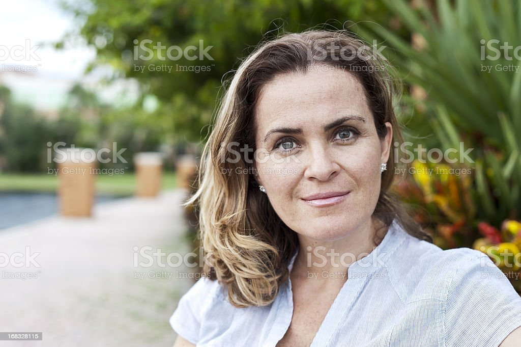 forty something caucasian woman royalty-free stock photo