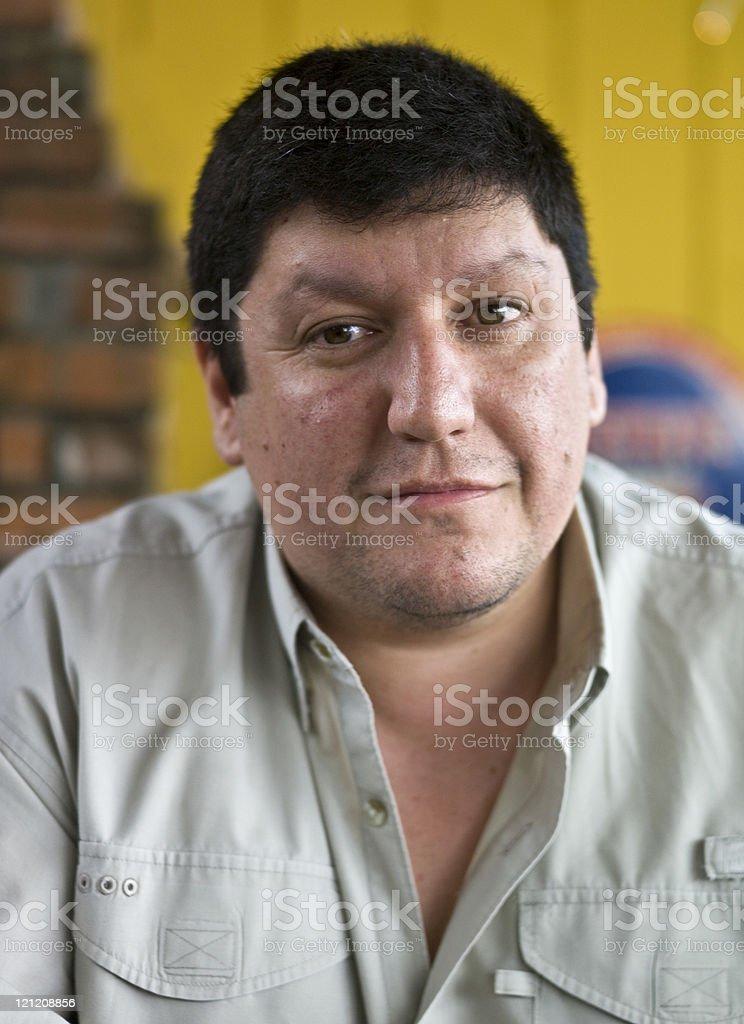 Forty something Hispanic man royalty-free stock photo