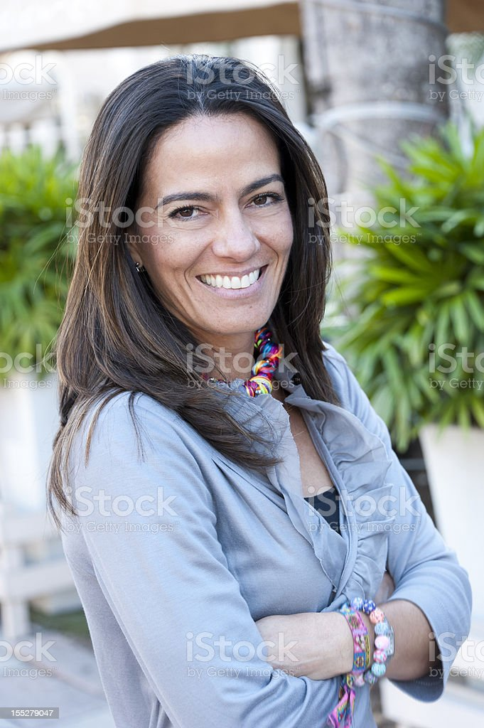 forty something hispanic  woman royalty-free stock photo