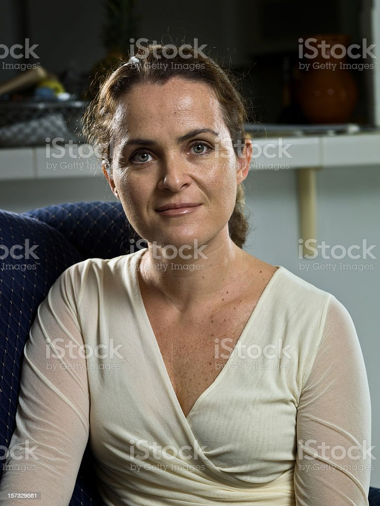 Forty something housewife royalty-free stock photo