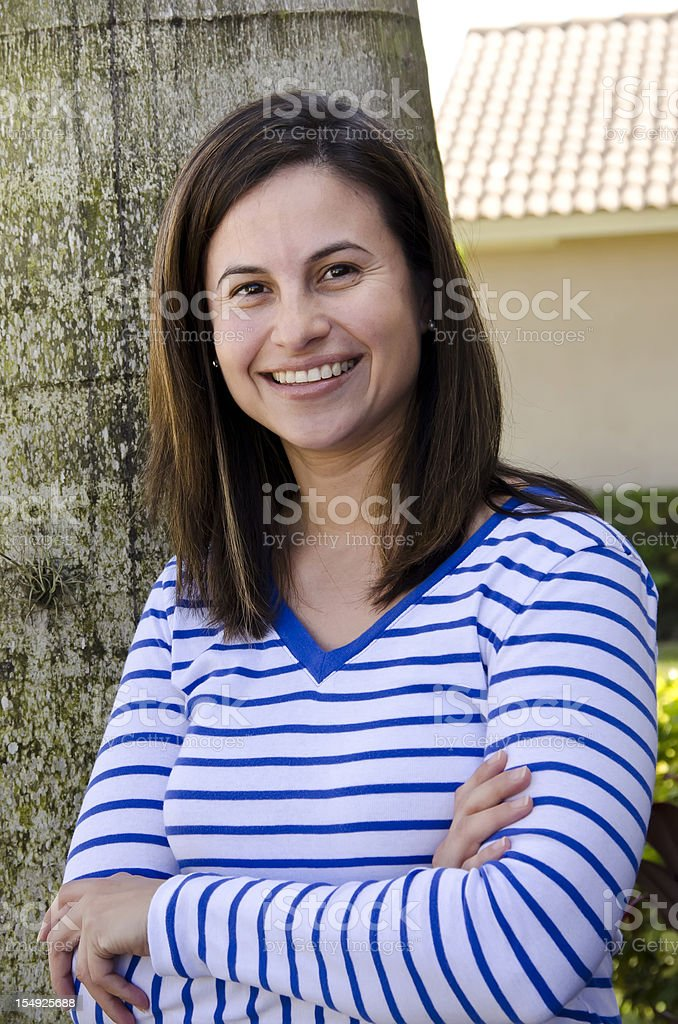 Forty something housewife posing royalty-free stock photo