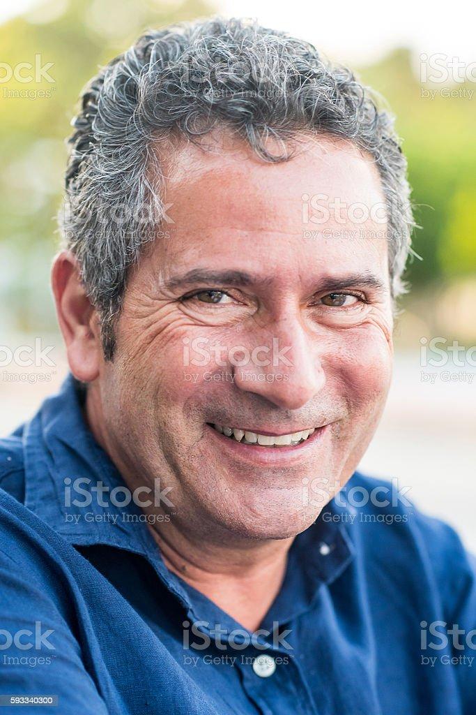 Forty something man stock photo