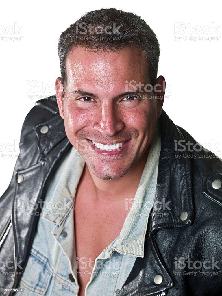 Forty something mature man stock photo