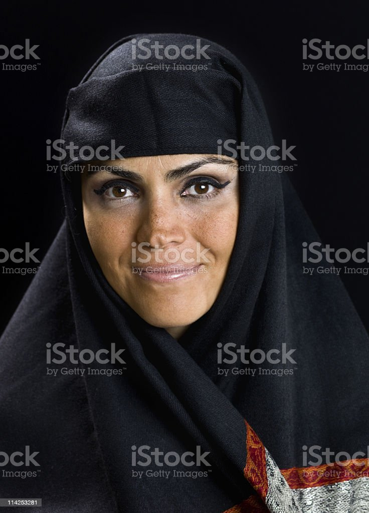 forty something muslim woman stock photo