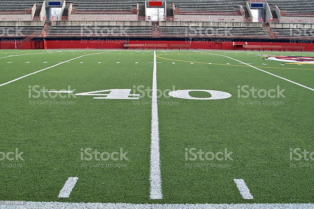 Forty Yard Line stock photo