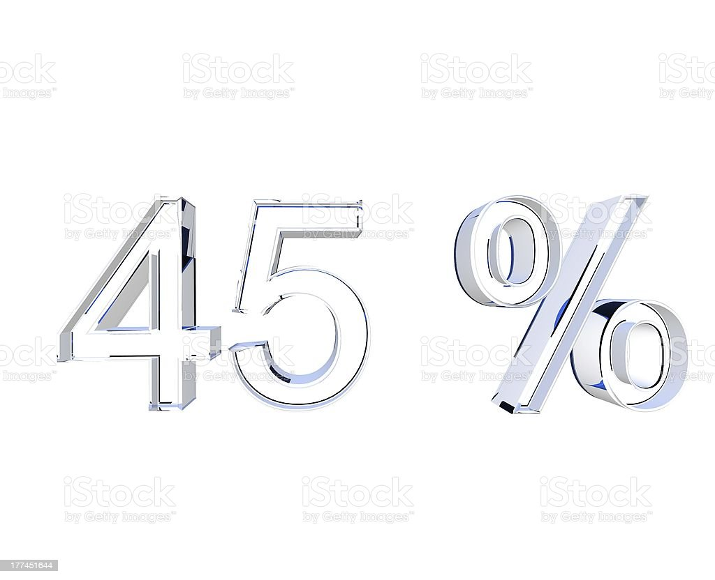forty-five percent stock photo
