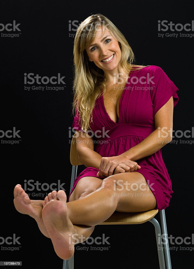 Forty-something attractive female royalty-free stock photo