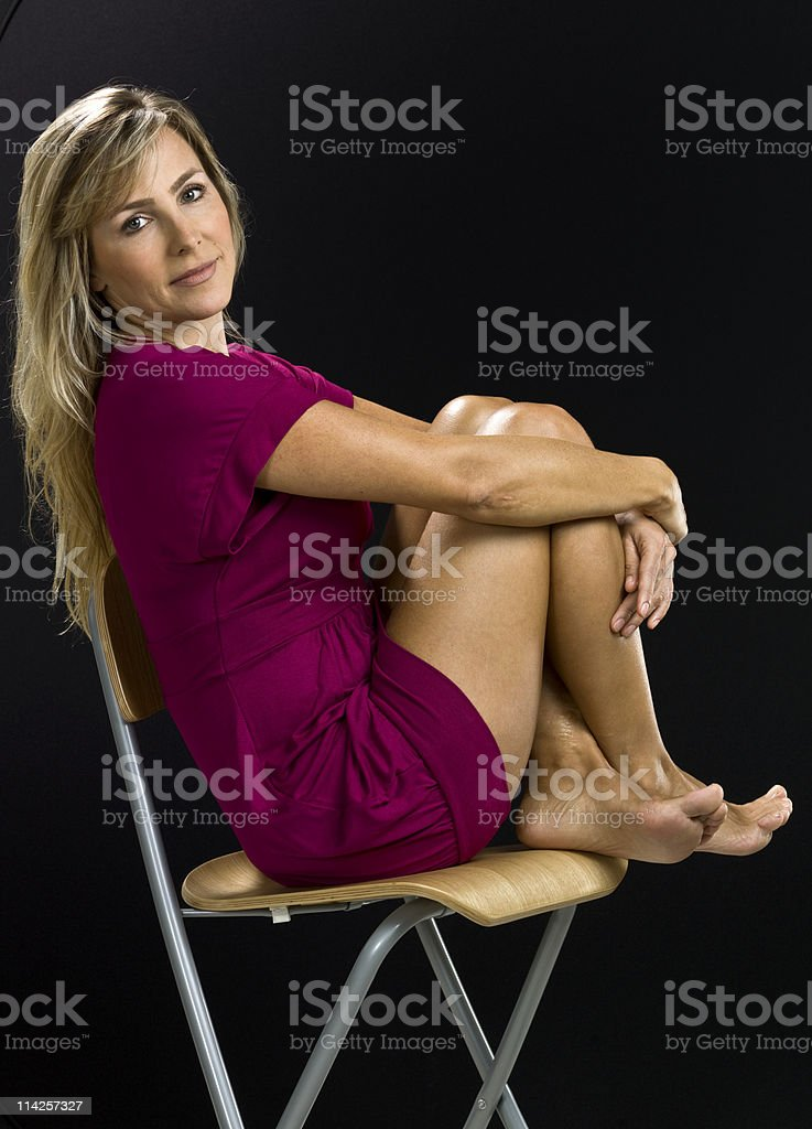 Forty-something attractive woman royalty-free stock photo