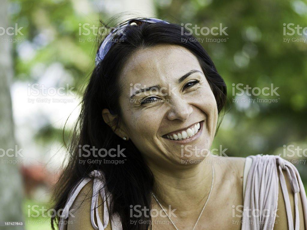 Forty-something Hispanic Woman stock photo
