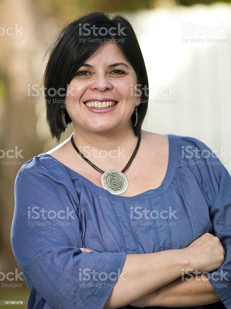 Forty-something Hispanic Woman royalty-free stock photo