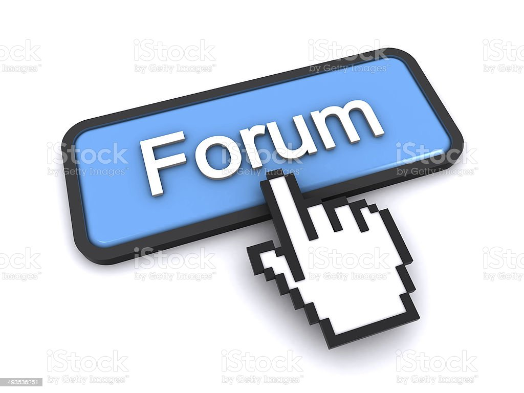 forum button stock photo