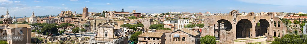 Forum from Palatino, Rome royalty-free stock photo