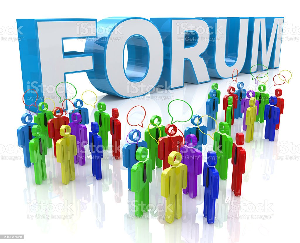 Forum Group Discussion stock photo