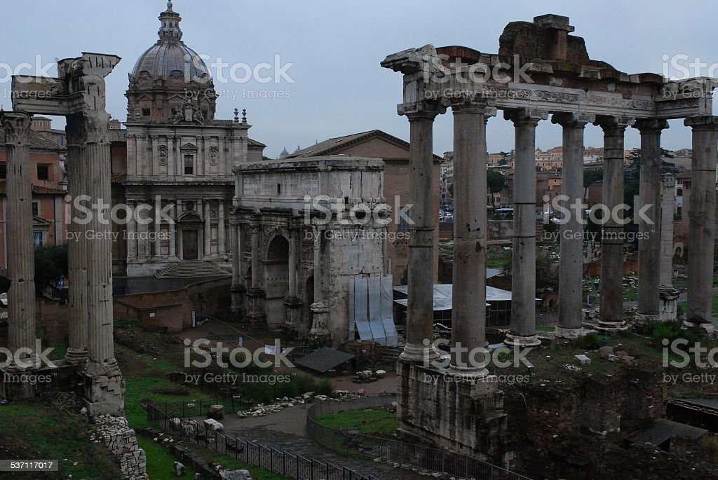 Forum in Rome, Italy royalty-free stock photo