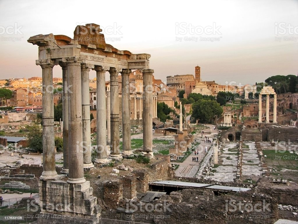 Forum in Rome stock photo