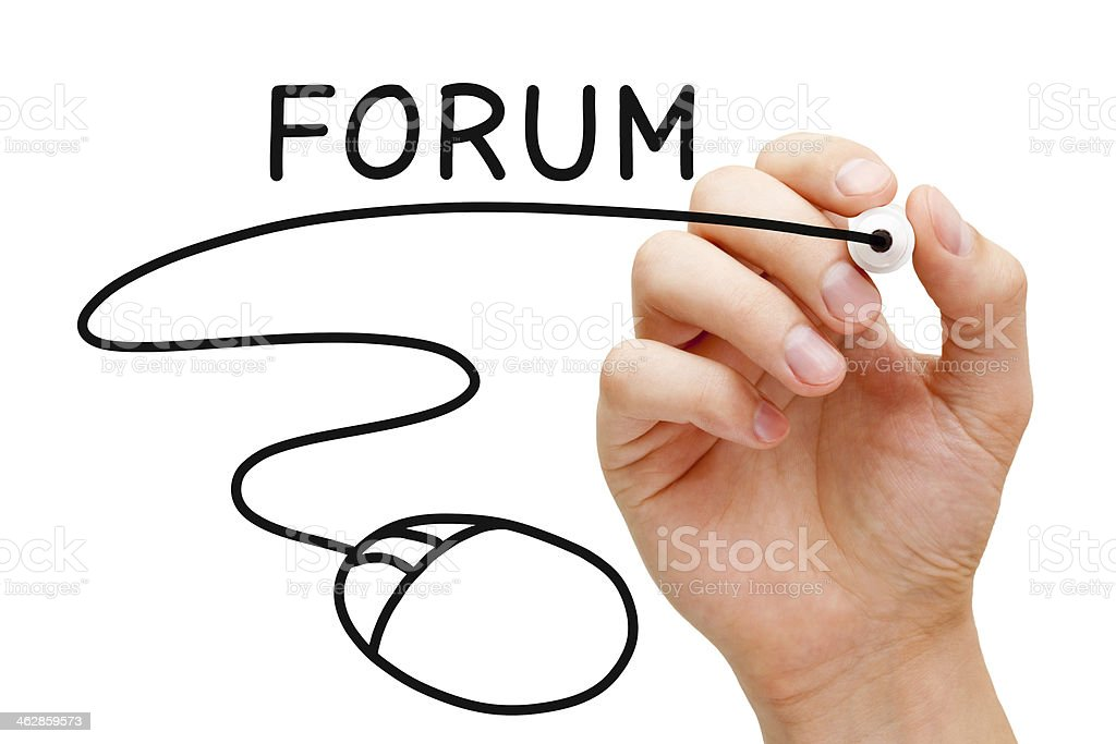Forum Mouse Concept stock photo