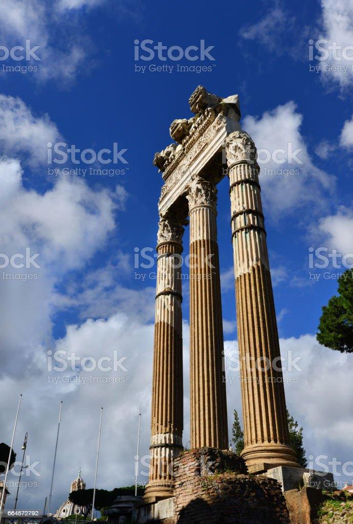Forum of Caesar ruins stock photo
