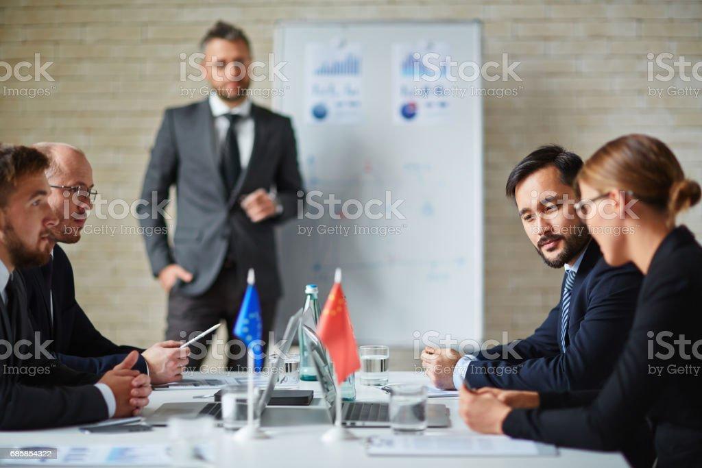 Forum of politicians stock photo