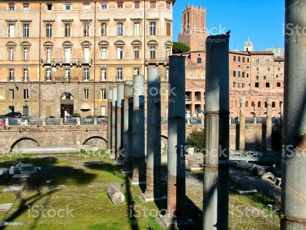 Forum of Trajan in Rome, Italy stock photo