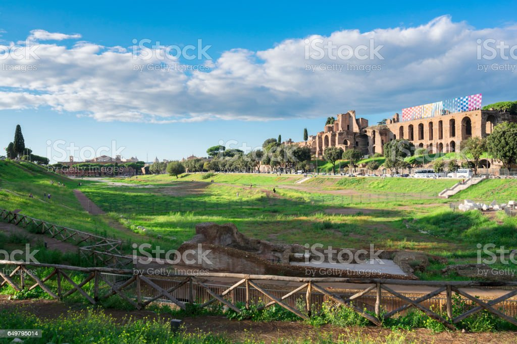 Forum - Roman ruins in Rome, Italy stock photo