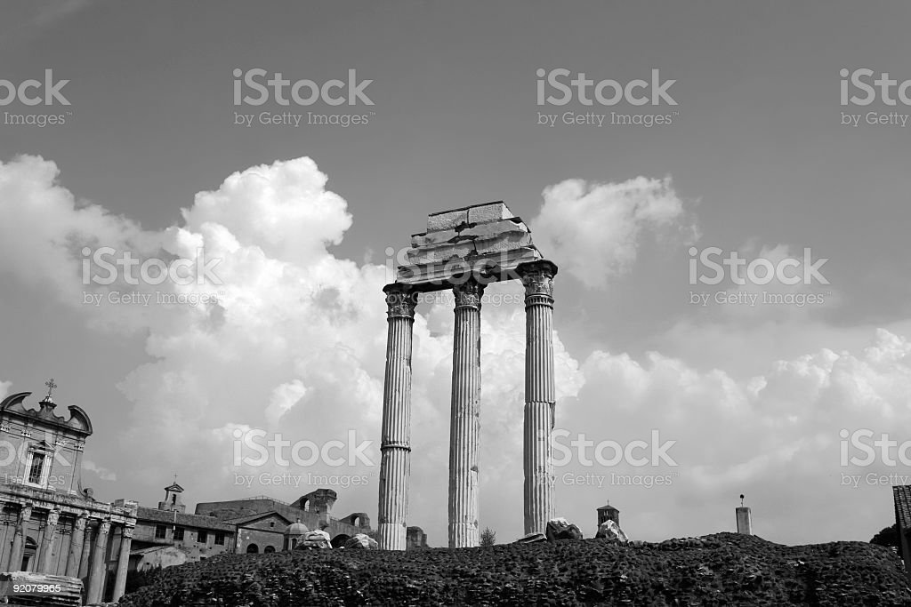 Forum Romanum - Columns royalty-free stock photo