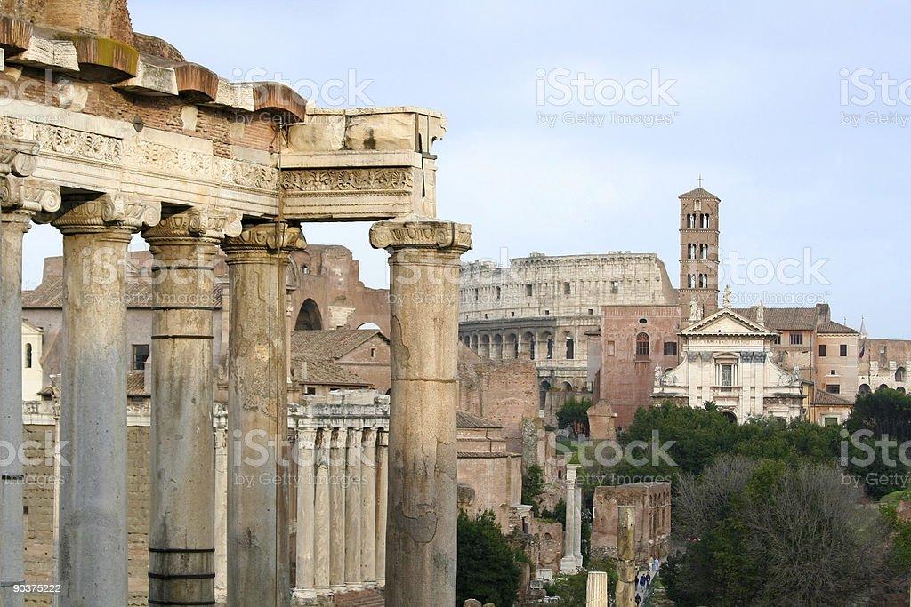 Forum Romanum in Rome royalty-free stock photo