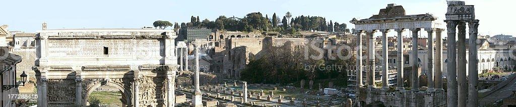 Forum romanum royalty-free stock photo