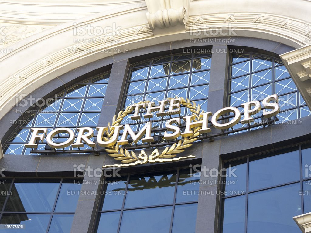 Forum Shops in  Las Vegas stock photo