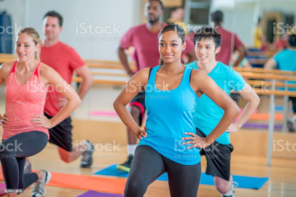 Forward Lunges stock photo