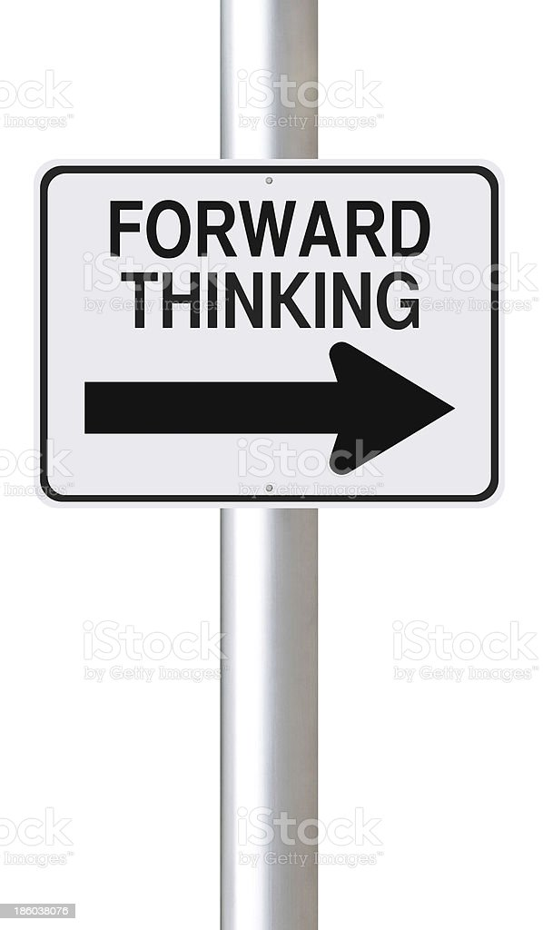 Forward Thinking royalty-free stock photo