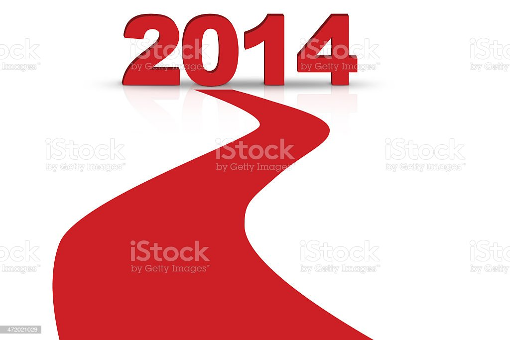 Forward to 2014 new year concept stock photo