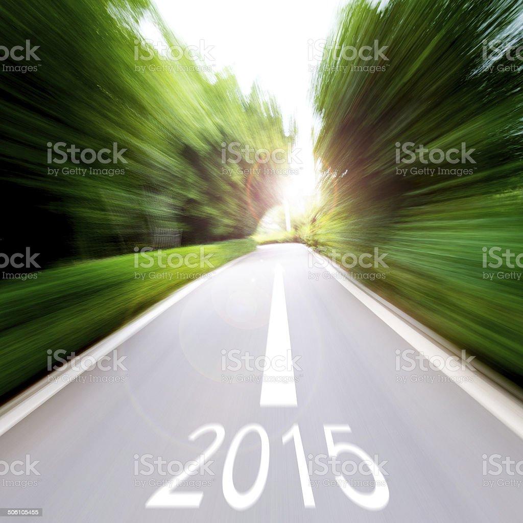 Forward to 2015 stock photo