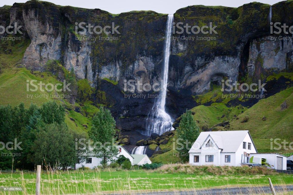 Foss a Sidu Waterfall,Iceland stock photo