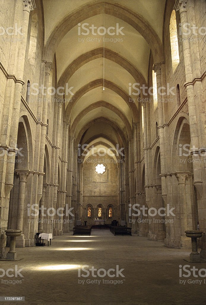 Fossanova Abbey stock photo