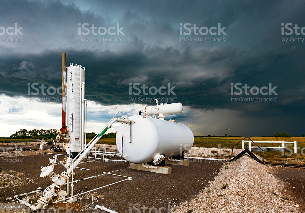 Fossil fuel future under a cloud stock photo