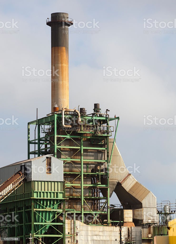 Fossil fuel power station stock photo