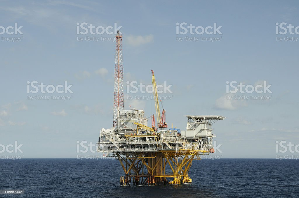 Fossil fuel production platform royalty-free stock photo